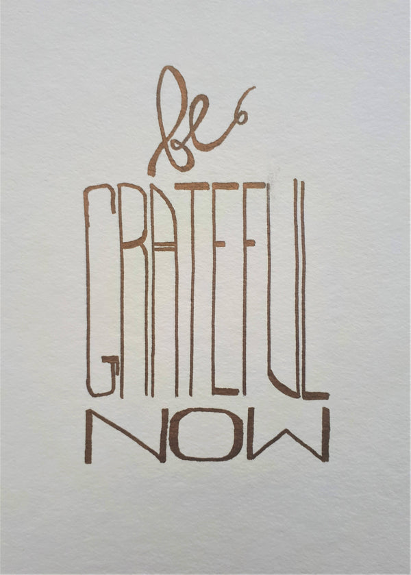 Be Grateful Now Illustration
