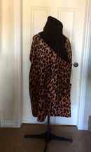 Leopard fleece coat- double sided