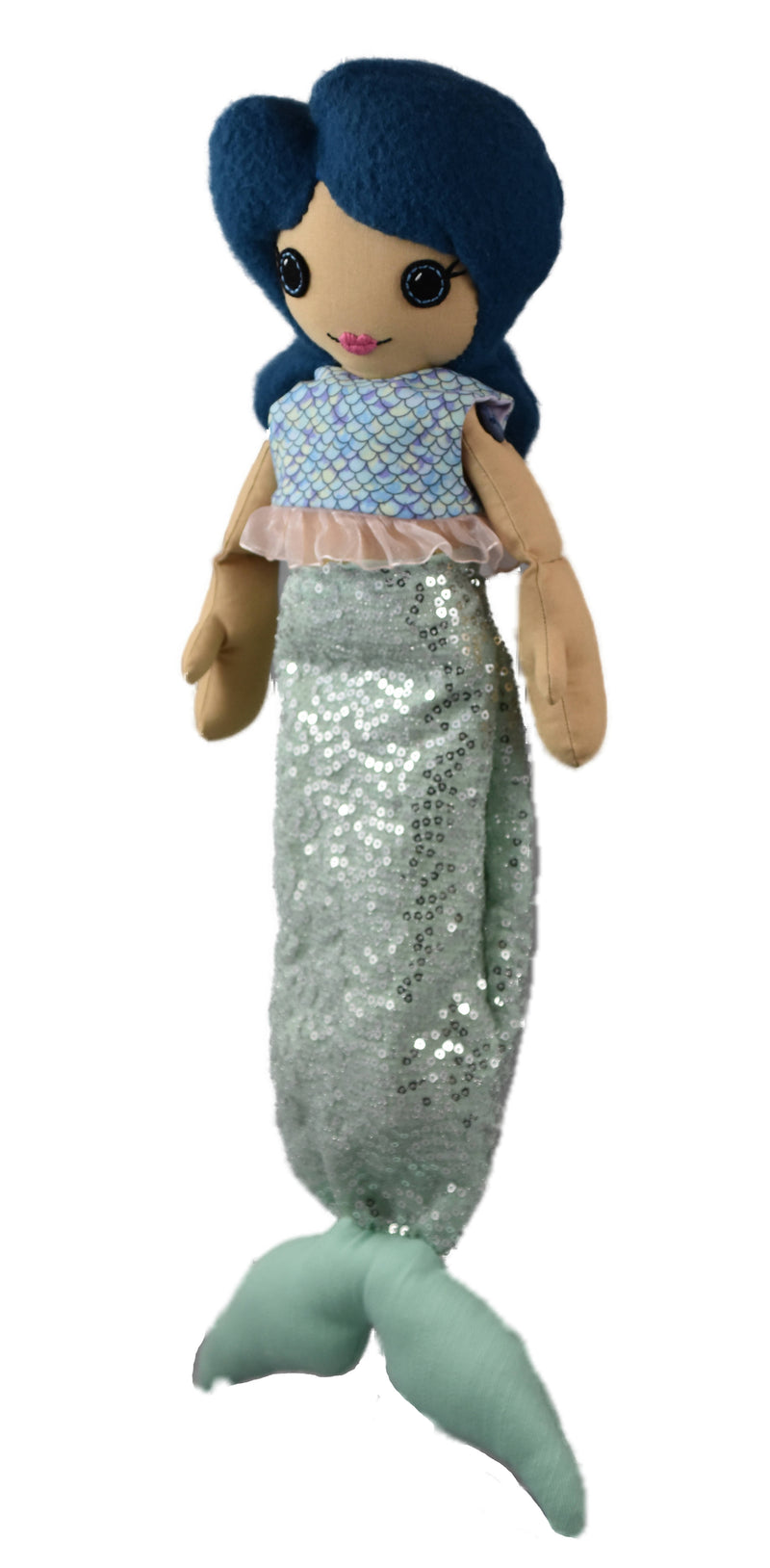 Sirena Mermaid - Cloth Doll / Collectible Artist Doll OOAK