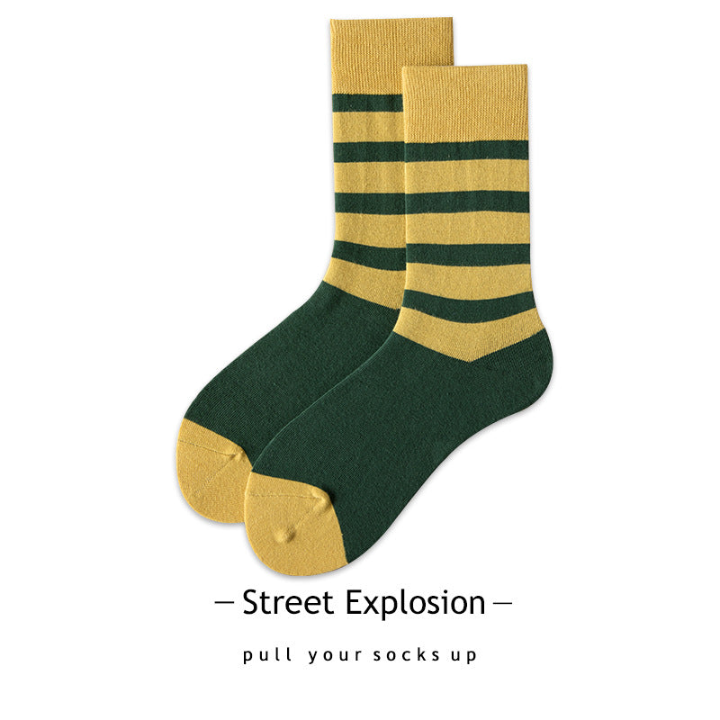 80s Striped Socks For Adults