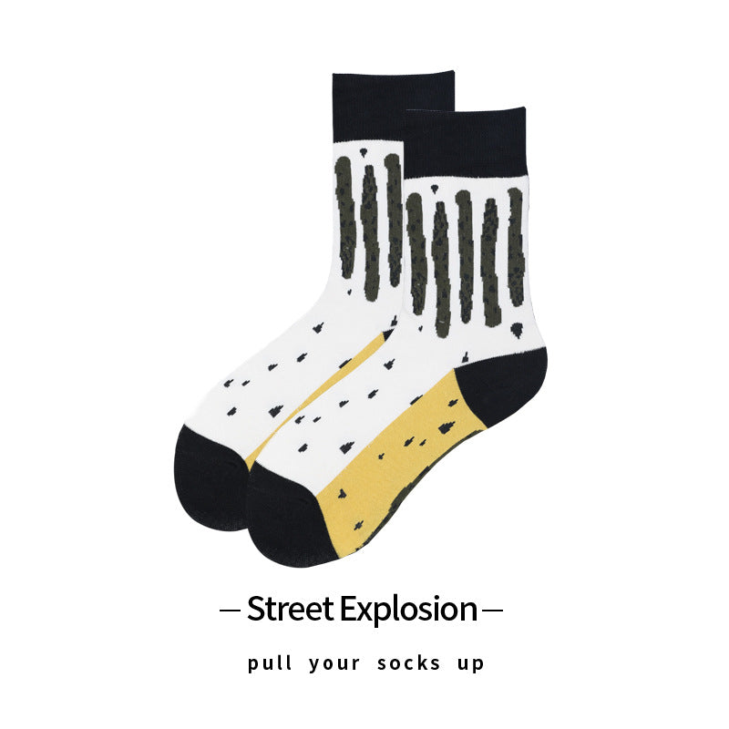 Dotted & Striped Socks For Adults