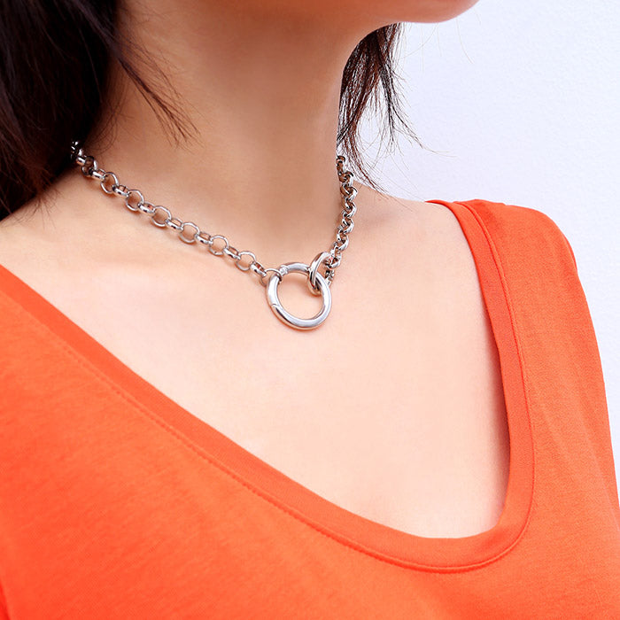 Clasp Ring Finger Necklace