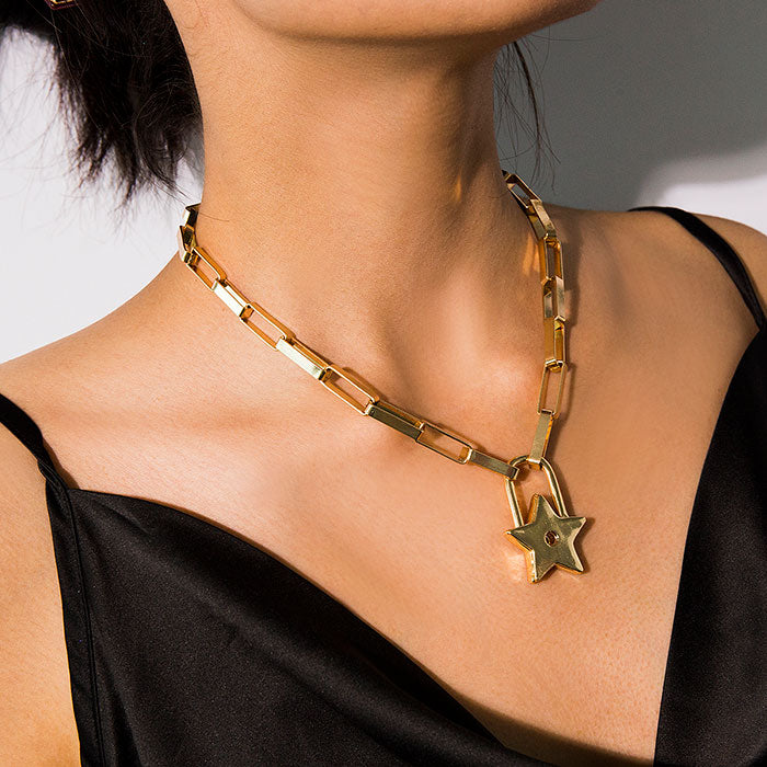 Star Pendant Necklace for Women