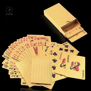Luxury Gold & Silver Poker Cards
