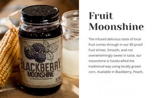 Fruit Moonshine (BlackBerry or Peach)