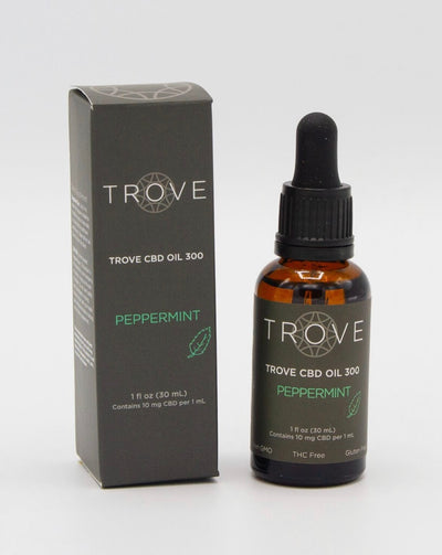 Trove CBD Oil Peppermint 300mg - CBD Beauty Corner