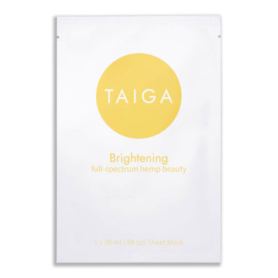 Taiga Brightening Hemp Infused Sheet Mask - CBD Beauty Corner