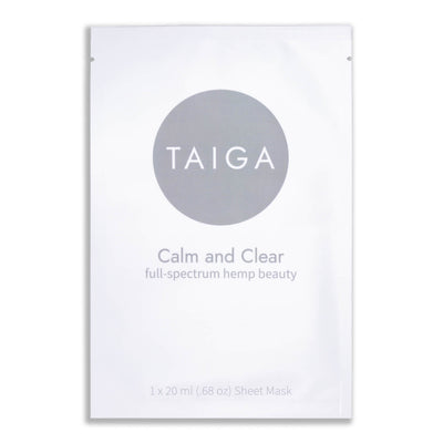 Taiga Calm and Clear Hemp Infused Sheet Mask - CBD Beauty Corner