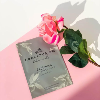 Gracious OM Replenish CBD Sheet Mask - CBD Beauty Corner