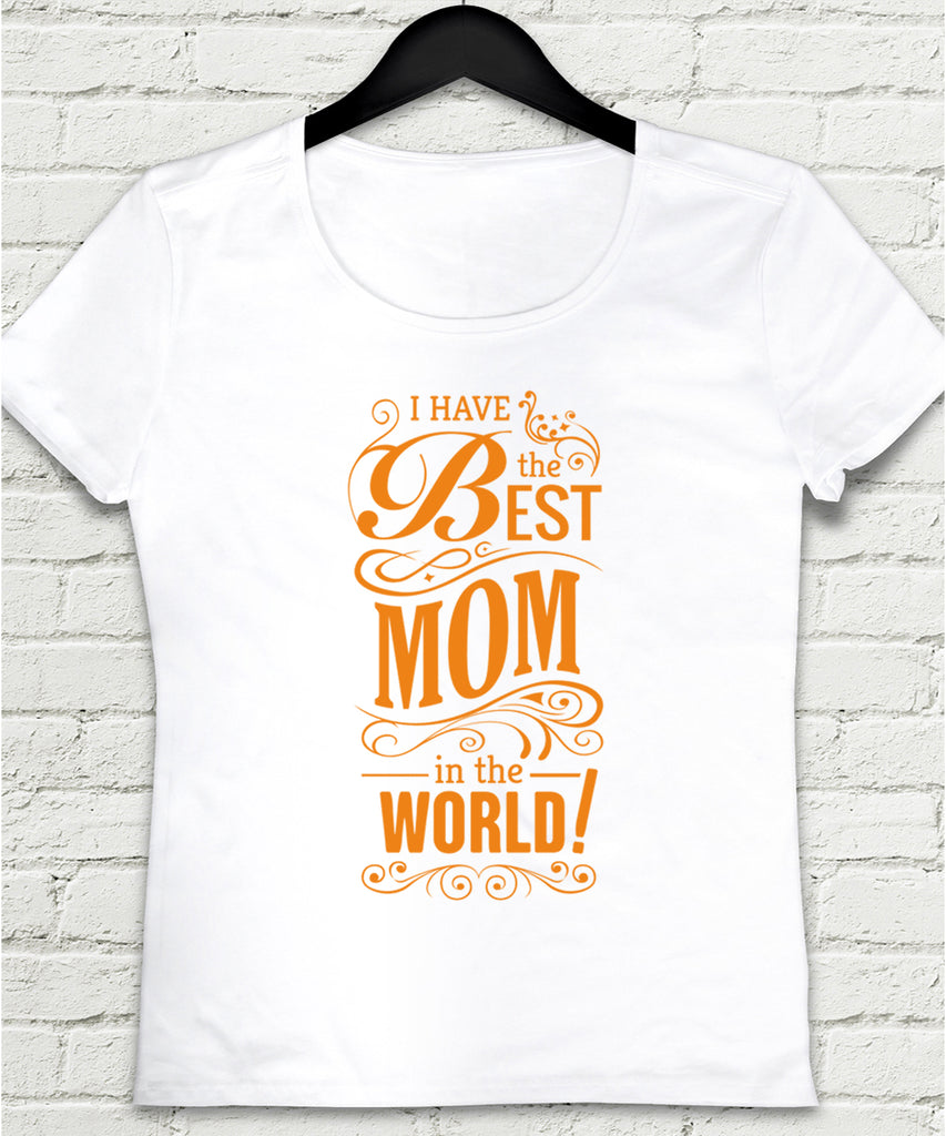 Best mom world tişört - basmatik.com