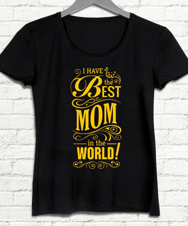 Best mom world siyah tişört - basmatik.com