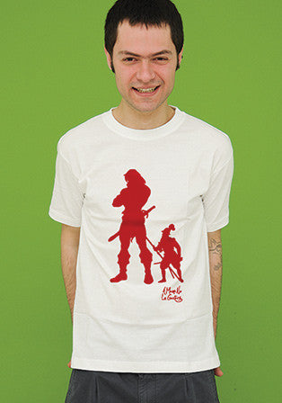 heman contra don quijote t-shirt