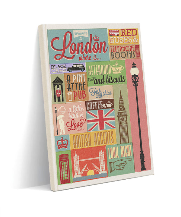 London kanvas defter - basmatik.com