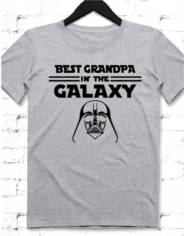 Galaxy Dad gri tshirt