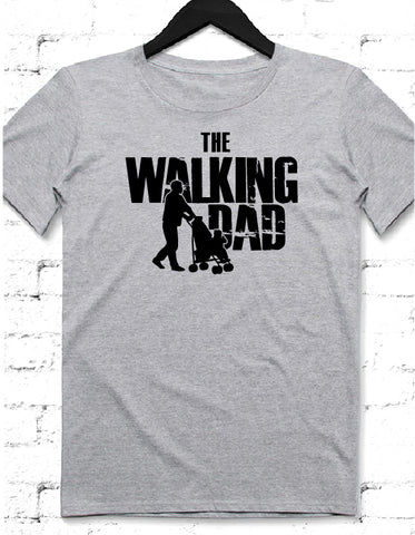 Walking Dad gri tshirt