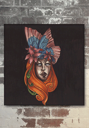 carnivale mask series3 kanvas 30x30