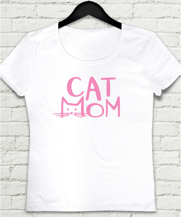 Cat mom tişört - basmatik.com