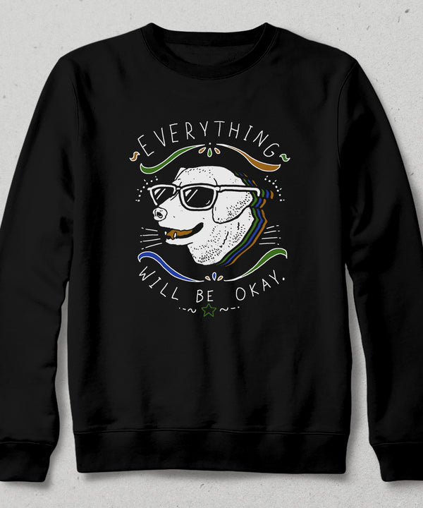 Cool dog siyah sweatshirt