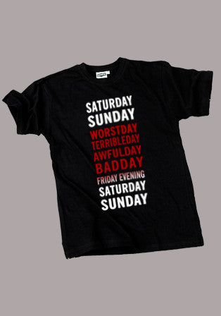 days of week t-shirt - basmatik.com