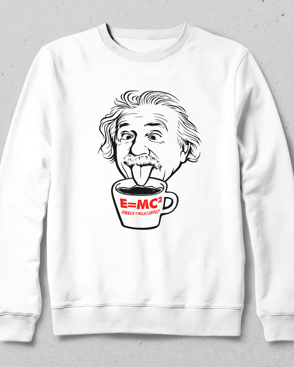 einsteincoffee beyaz sweatshirt