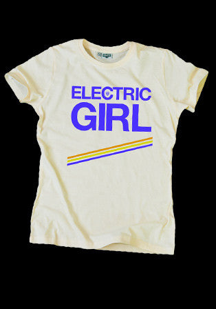 electric girl bej t-shirt - basmatik.com