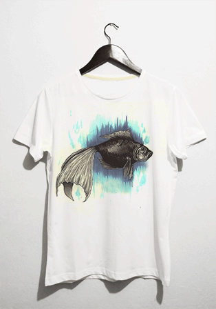 fish t-shirt - basmatik.com