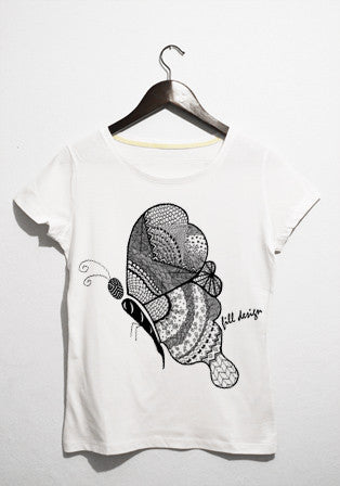 form butterfly t-shirt