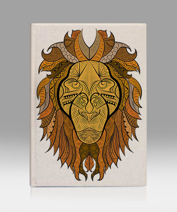 Ornate lion kanvas defter