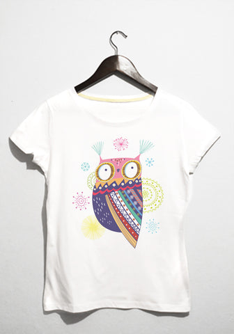 colorfull owl tshirt