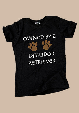 owned by labrador t-shirt - basmatik.com