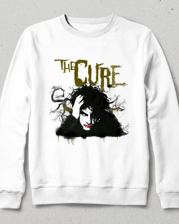The cure beyaz sweatshirt - basmatik.com