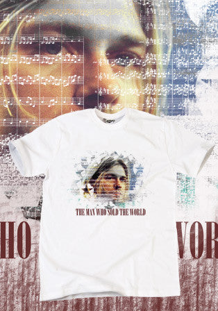theman who sold the world t-shirt