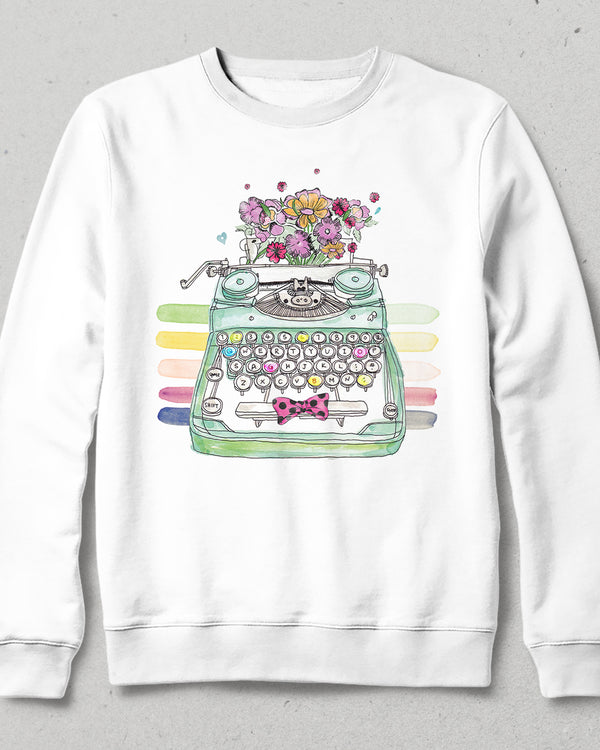 Type flovers beyaz sweatshirt