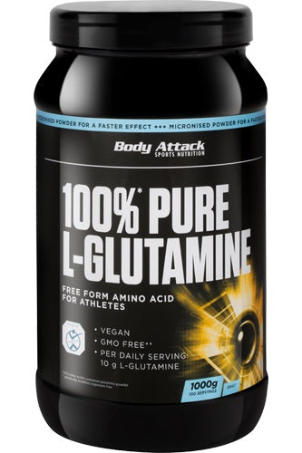Body Attack 100% Glutamin - 1000g