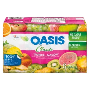 Oasis Tropical Passion 7 Fruits Juice Tetra Packs