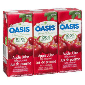 Oasis Classic Apple Juice Tetra Packs