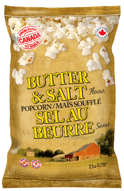 From Farm to Table Butter Salt Popcorn