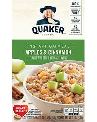 Quaker Instant Oatmeal: Apples & Cinnamon