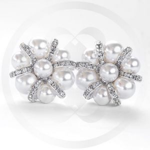 Lulu Pearl Cluster and Sterling Silver Clip-On Earrings