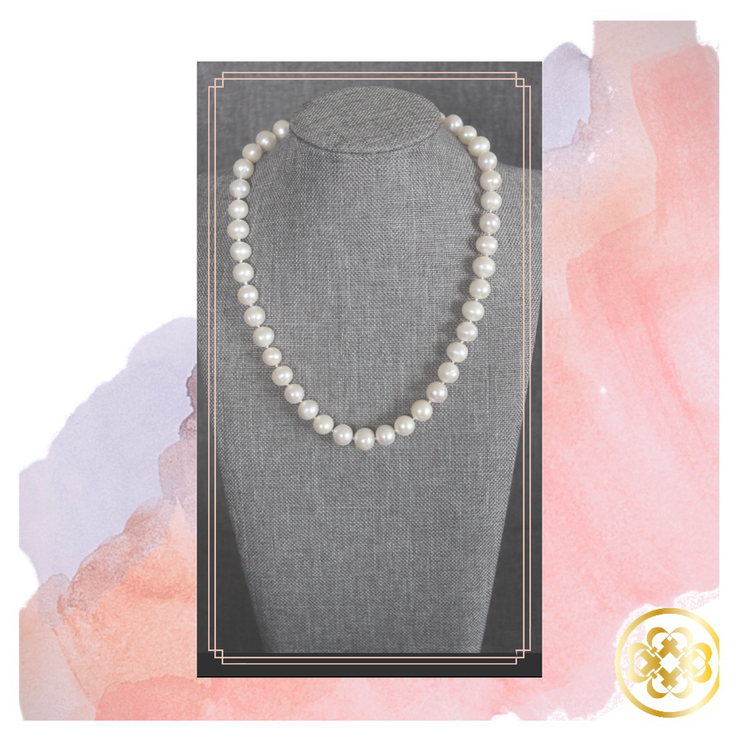 Ronke Single Strand hand knotted Pearl Necklace