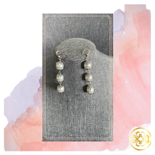 Load image into Gallery viewer, Toniloba Pearl and Silver Earrings