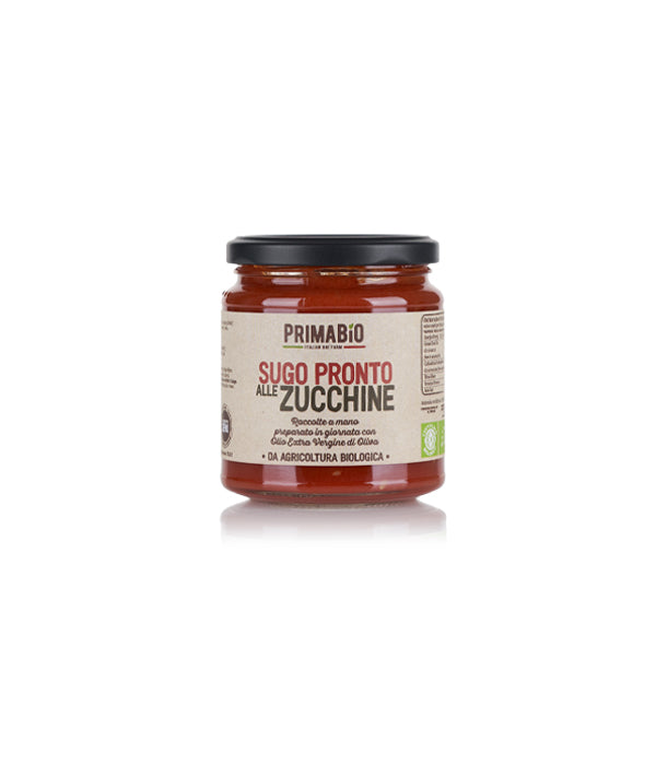 Organic Tomato Sauce with COURGETTES 12x280gr - Italian Farmers