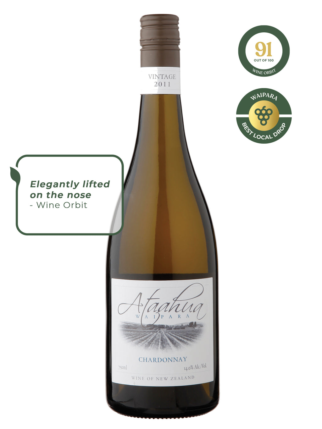 New Zealand Wine, New Zealand Wine Shops, Ataahua, Chardonnay, 2017, New Zealand Wine Shop, Online Wine Shop, New Zealand Chardonnay, Waipara Wine