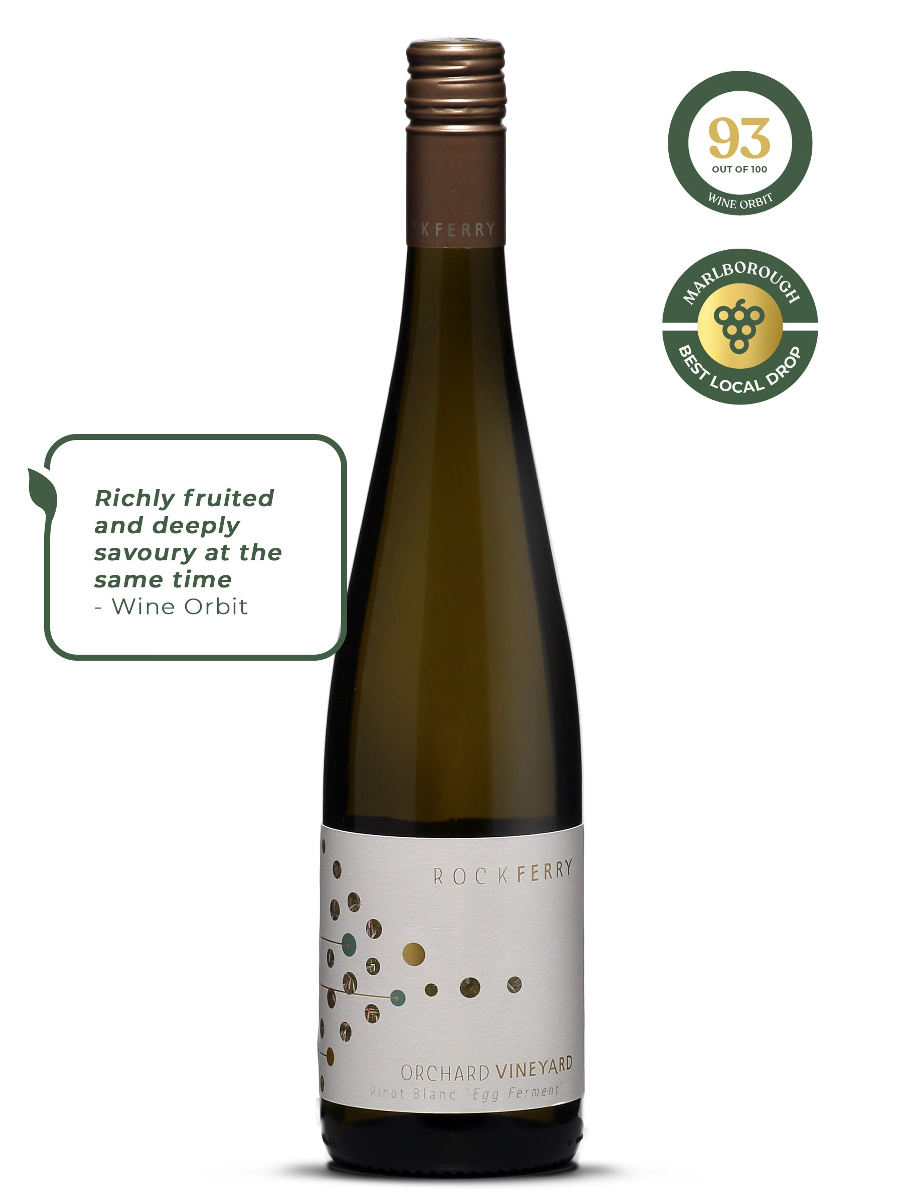 Rock Ferry Orchard Vineyard Pinot Blanc 'Egg Ferment' 2017