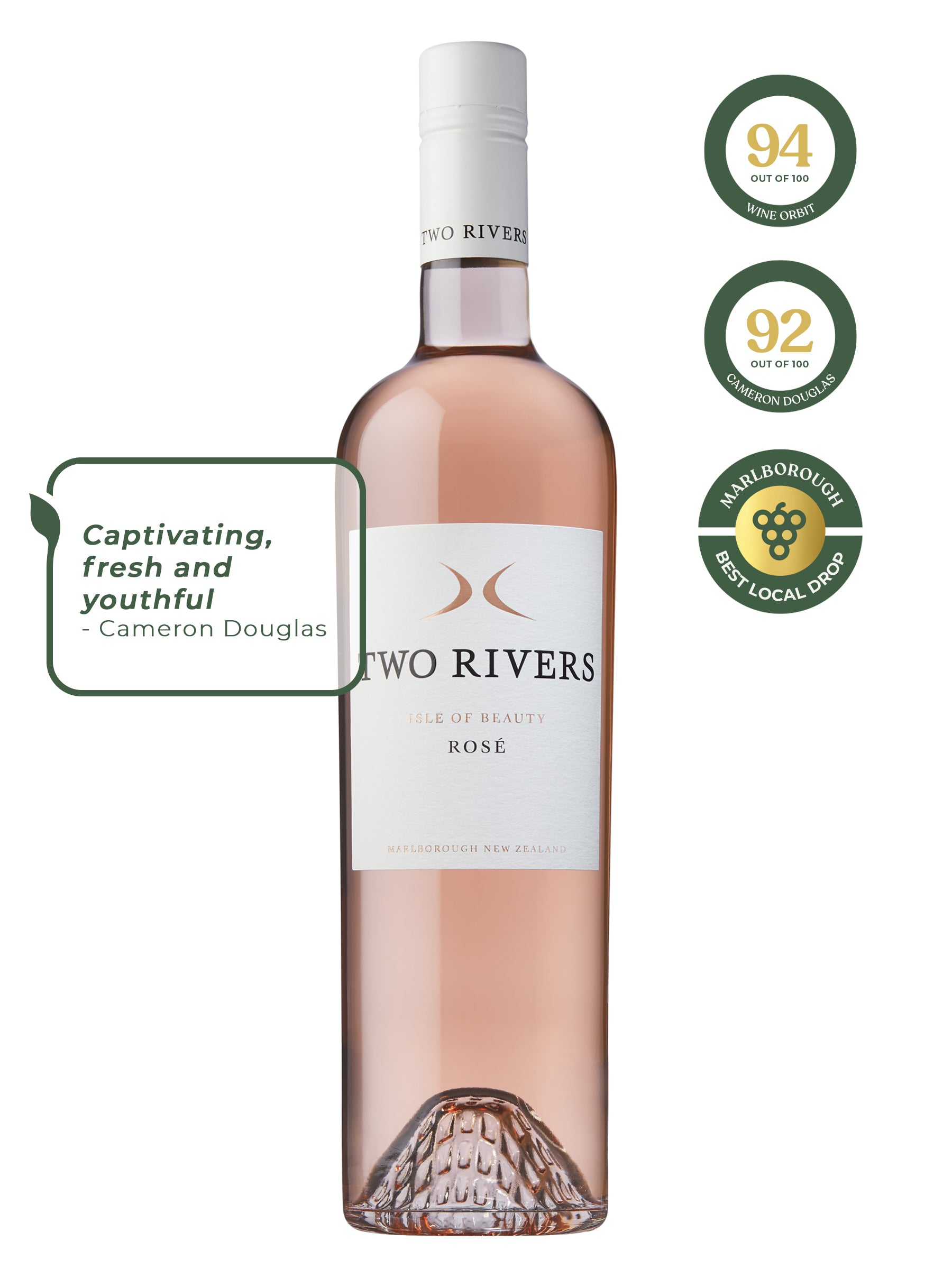 E. Two Rivers Isle of Beauty Rosé 2019 *
