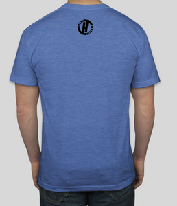 Heroic Strength Blue T-shirt: back