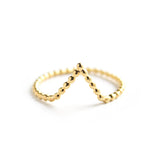 Peak | Gold Vermeil Beaded V Ring - My Super Hot Deals