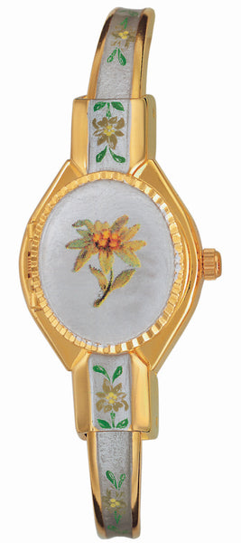 ANDRE MOUCHE - Edelweiss Gold Handmade Women Swiss Watch in Pearl White - My Super Hot Deals