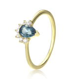Invisible Crown London Blue Topaz Ring - My Super Hot Deals
