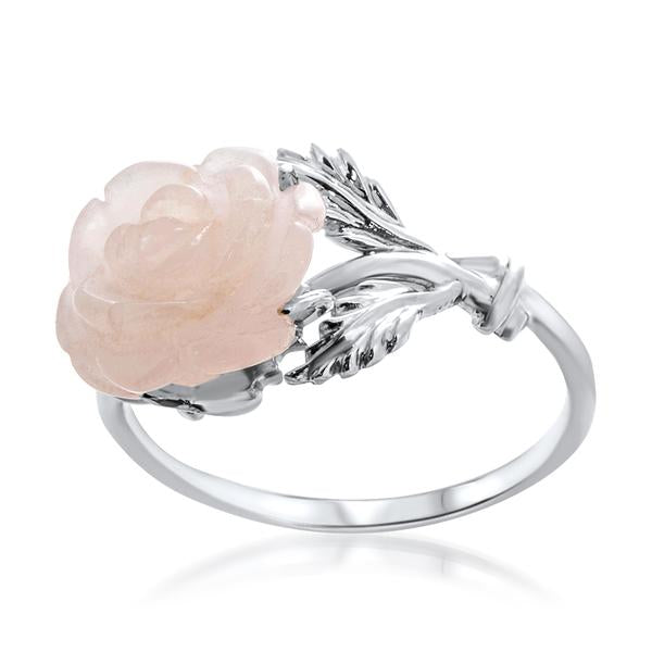 925 Silver Ring With Pink Quartz - My Super Hot Deals
